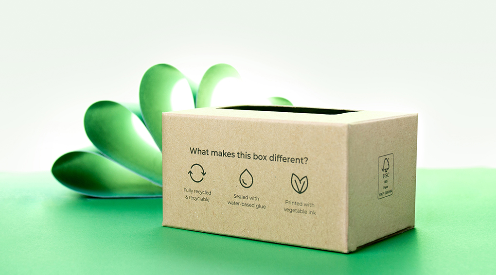 Recycled business card boxes