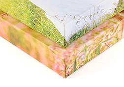 Canvas frame wrapping