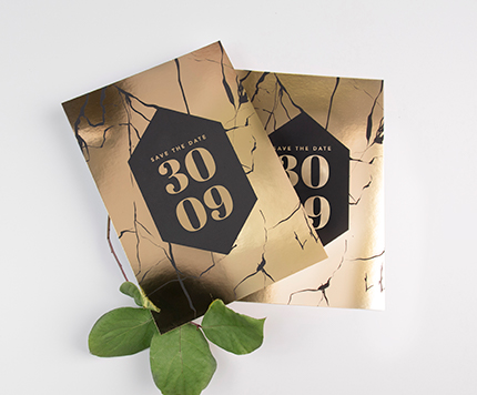 Foil Print Wedding Save the Date Cards