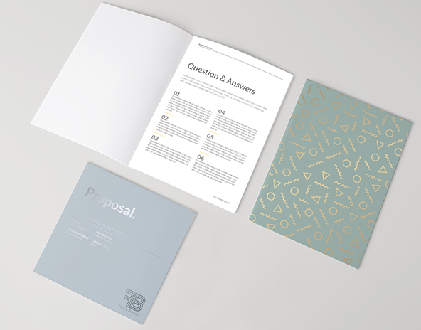 Saddle Stitched Brochures and Notebooks