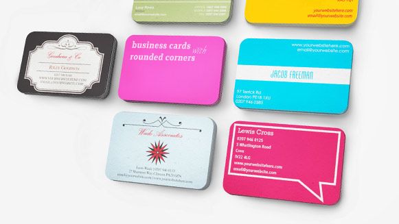 rounded business card printing all full colour print