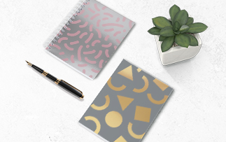 Foiled Brochures and Notebooks