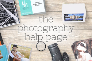 the photography help page