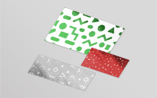 Rectangle foil stickers