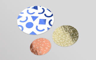 Round foil stickers