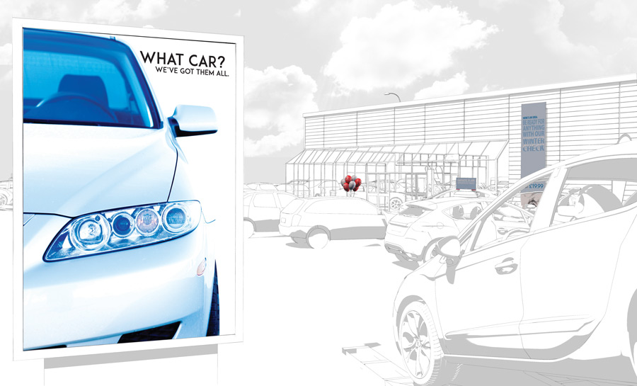 Outdoor poster for car showroom