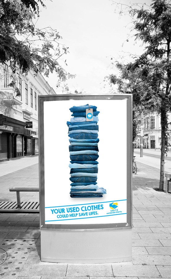 Outdoor charity posters