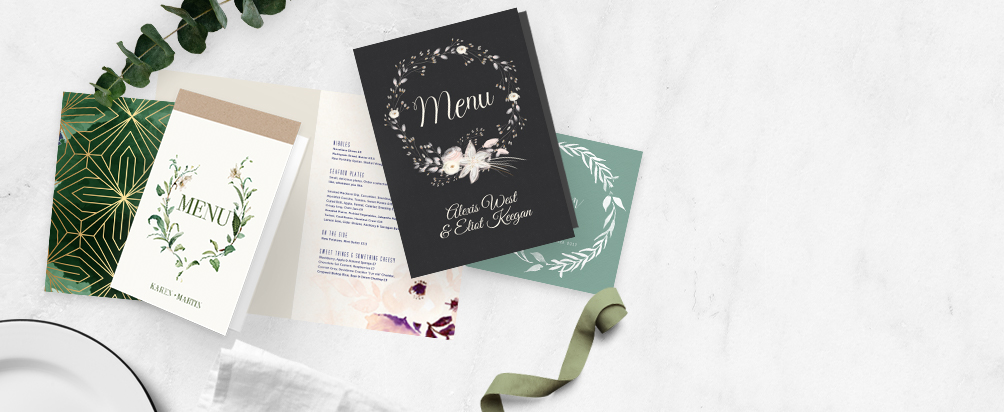 Folded Wedding Menus