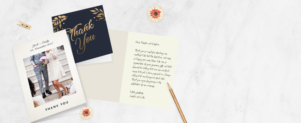 wedding folded thank you cards online printed com