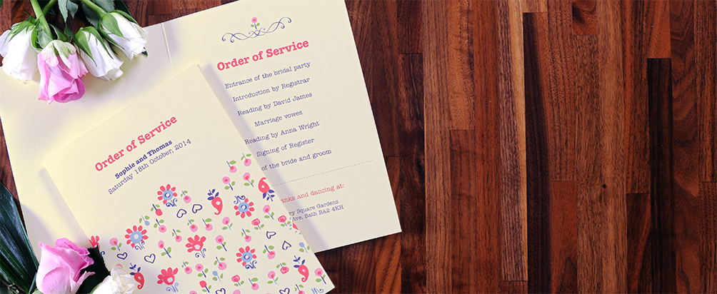 Folded Order of Service