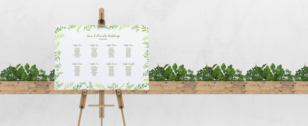 Wedding Mounted Table Plan