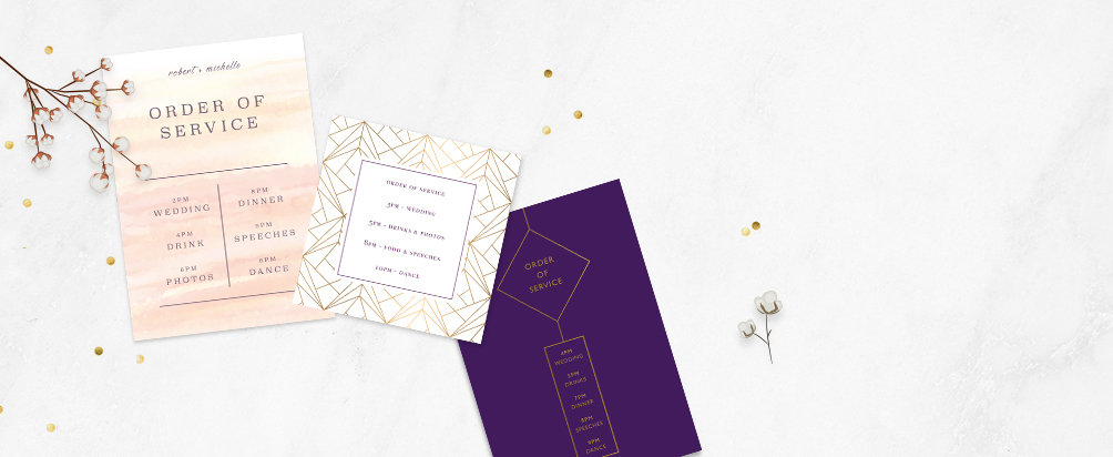 Wedding Order of Service Printing