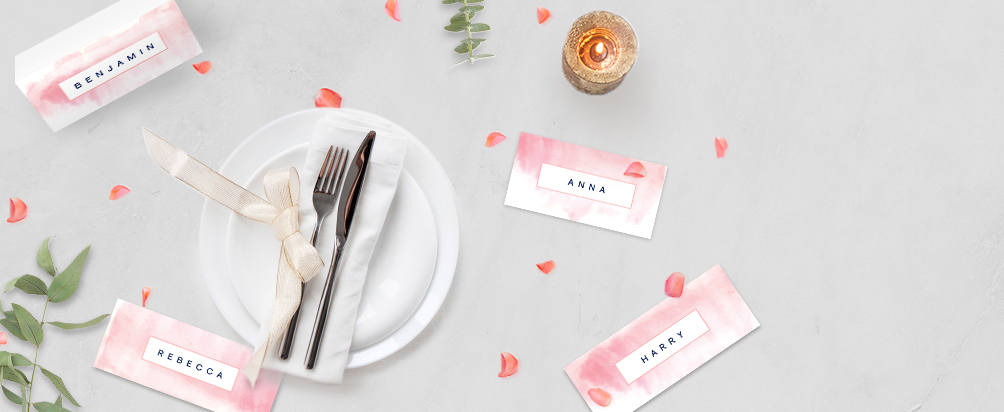 Personalised Wedding Place Cards