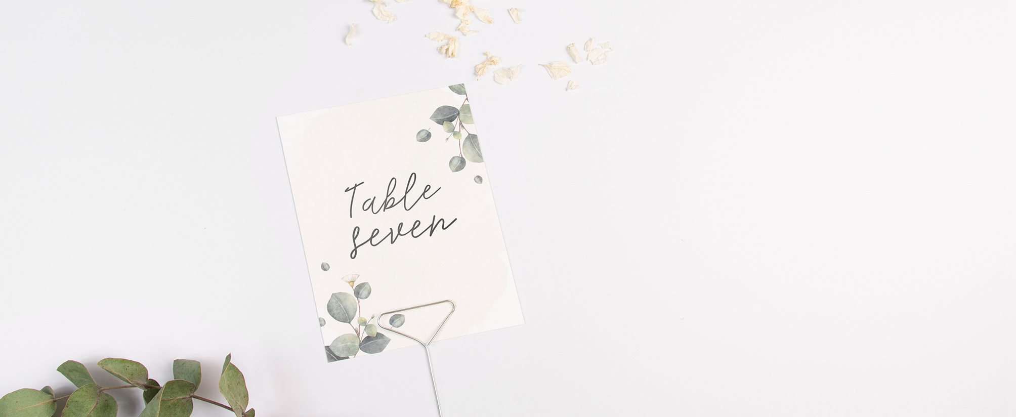 Wedding Table Name & Number Cards