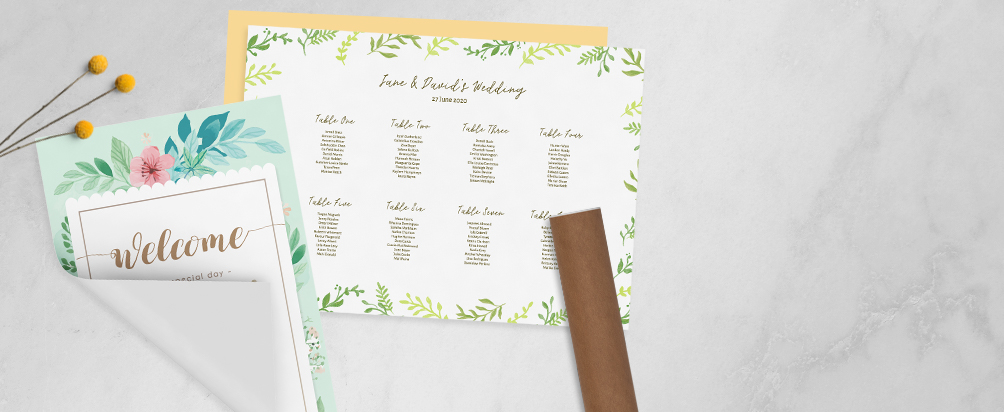 Wedding Poster Table Plan