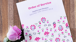 Wedding order of service