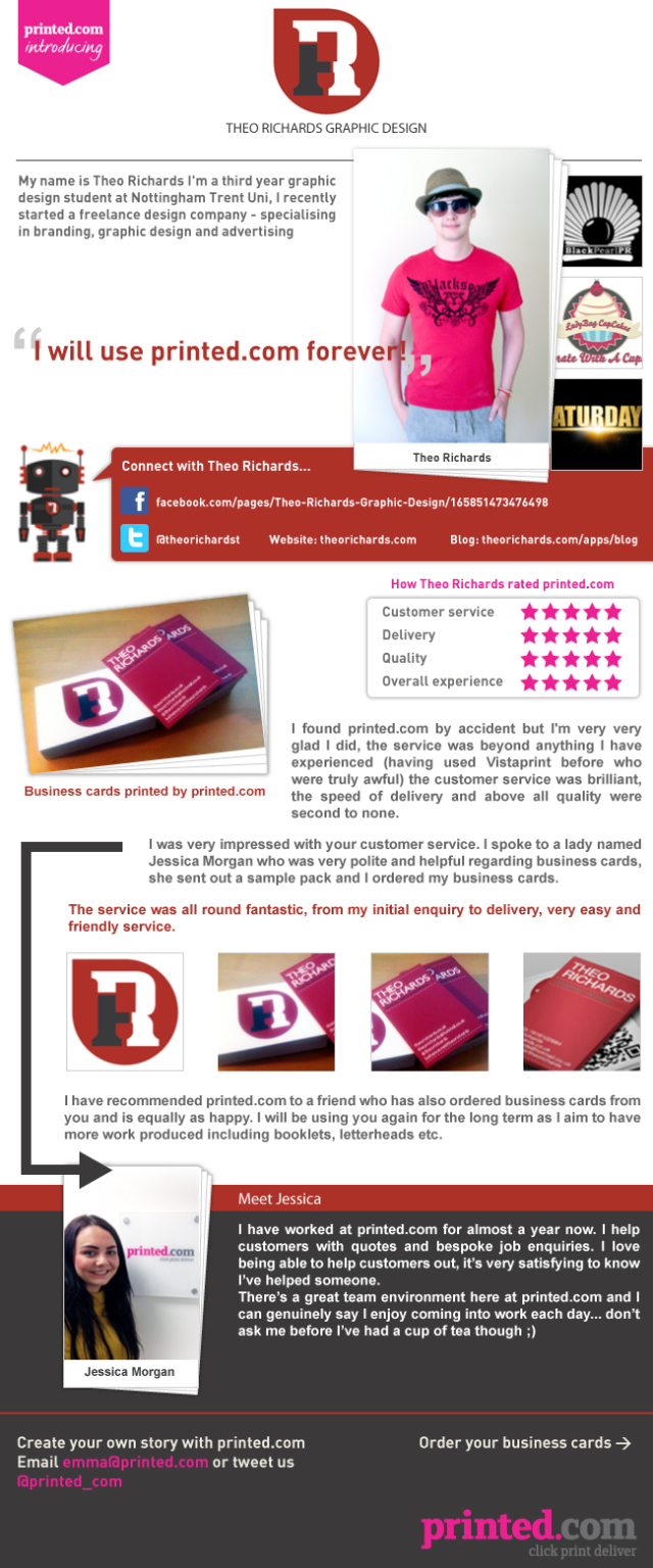 Theo Richards Graphic Design and printed.com