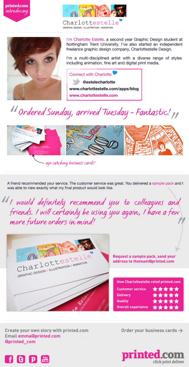 Charlottestelle Graphic Design and printed.com