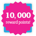 Win 10,000 reward points with printed.com TV