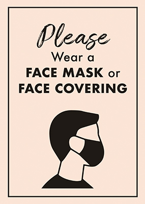 Please Wear Face Mask Pink A1 Portrait