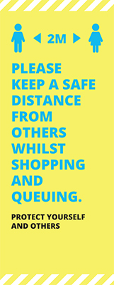 Shopping Safe Roller Banner