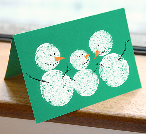 Christmas crafts for Christmas card ideas to make at home