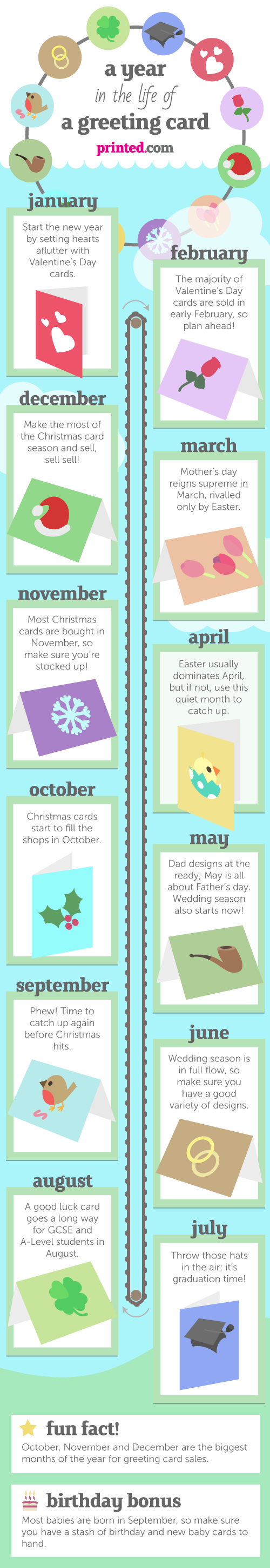 Greeting card design calendar