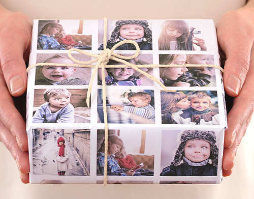 Christmas gifts ideas: Photo wrapping paper