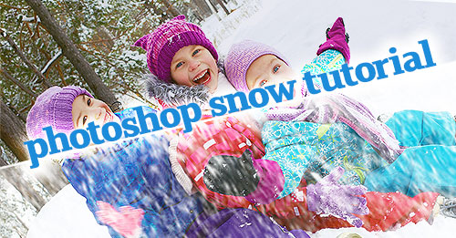 Photoshop snow tutorial header