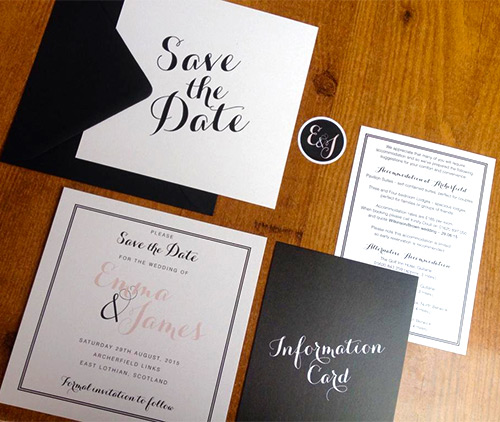 michelle walker printed wedding stationery