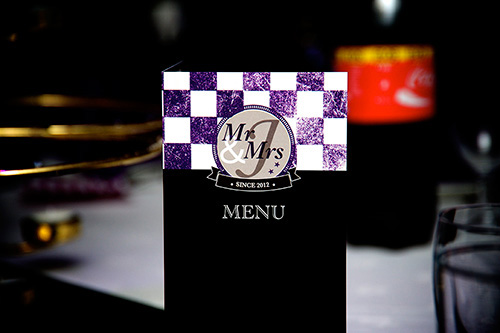 cinema theme wedding menu: wedding stationery personal touches