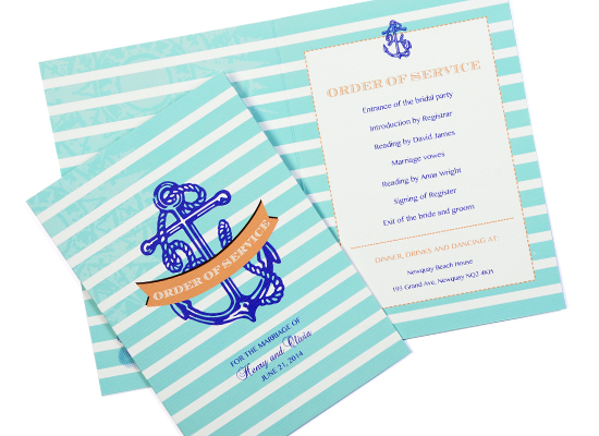 Most Common Wedding Guests Complaints to Avoid: sailor wedding order of service