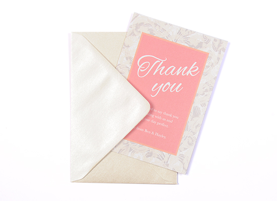 Most Common Wedding Guests Complaints to Avoid: thank you cards in luxury paper stocks