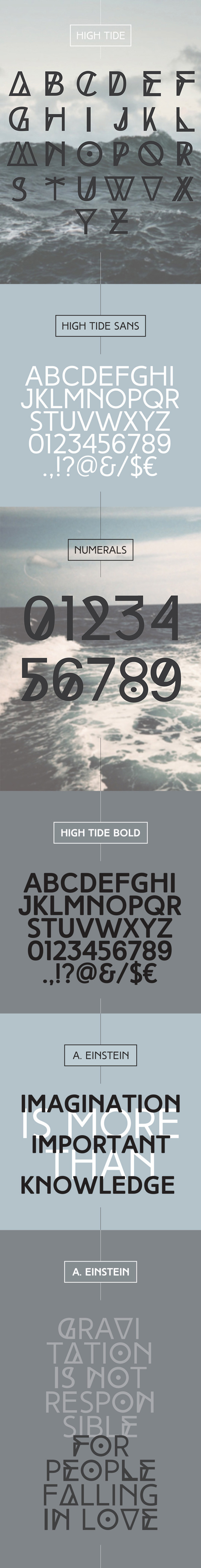 High Tide font of the month