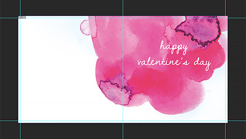watercolour greeting card tutorial text added
