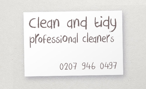 Cleaning company business card: inappropriate typography