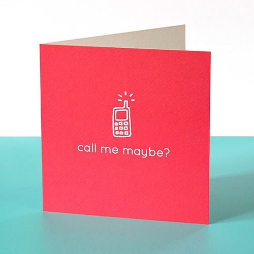 funny valentines card call me maybe
