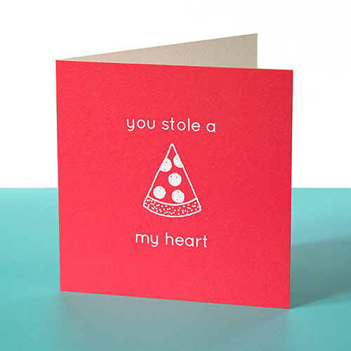 funny valentines card - pizza you