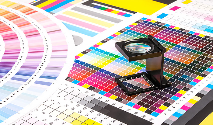 litho vs digital printing colour charts