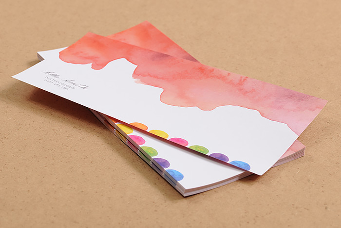 Colourful Rectangle Business Cards: Business stationery trends 2015
