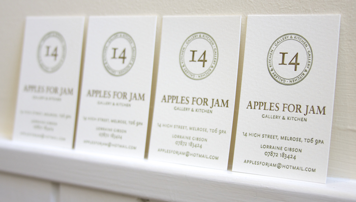 Lettica Business Cards for Apples for Jam