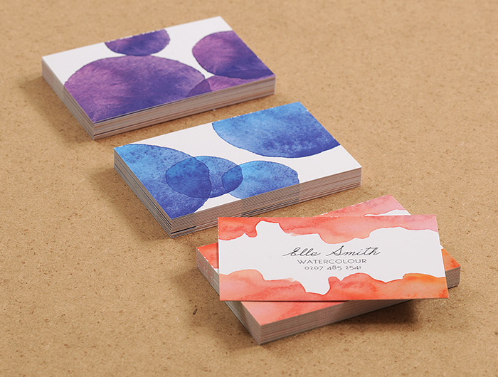 "business card design watercolour artist ""enduring appeal of the business cards"""