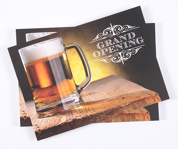 postcard should be your go-to marketing: brewery opening postcard