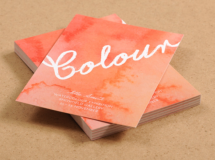 postcard should be your go-to marketing watercolour artist postcard