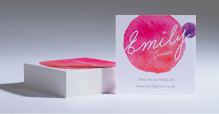 square business card printing