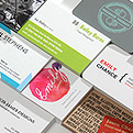 Get the scoop: new business card range