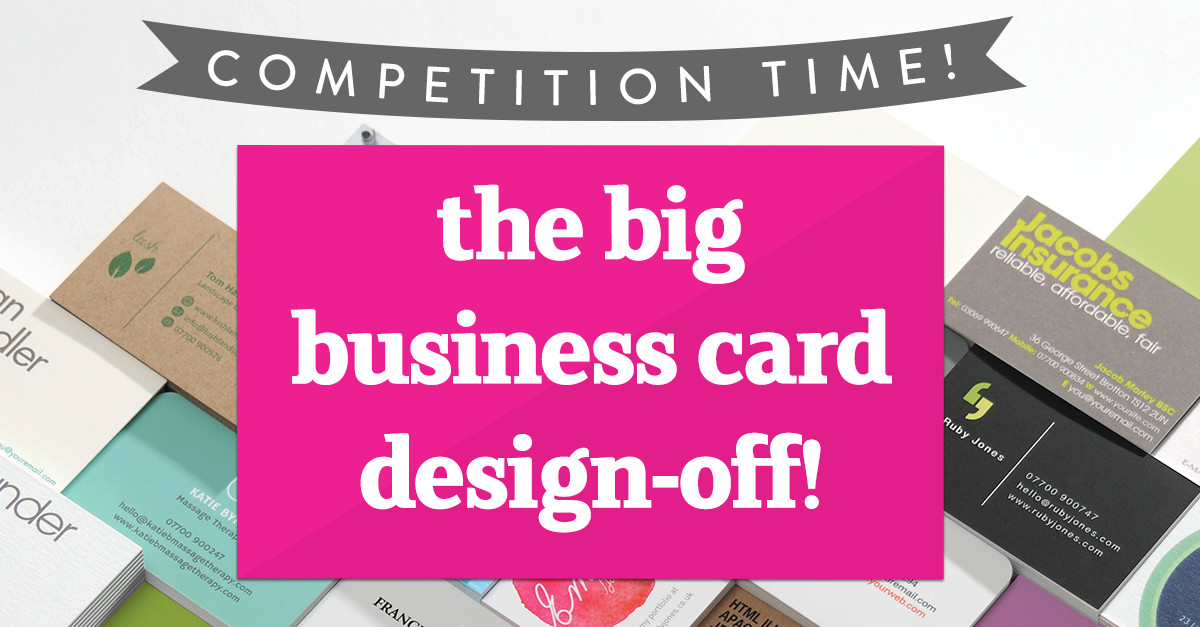 Business card competition