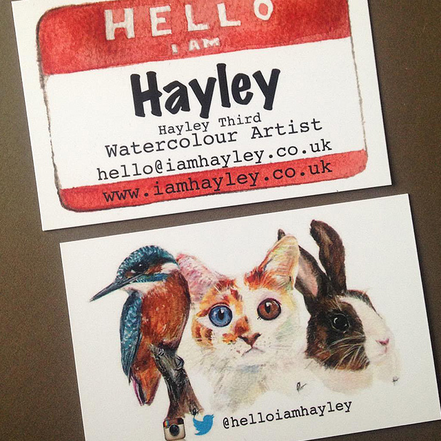 Hello I Am Hayley business cards