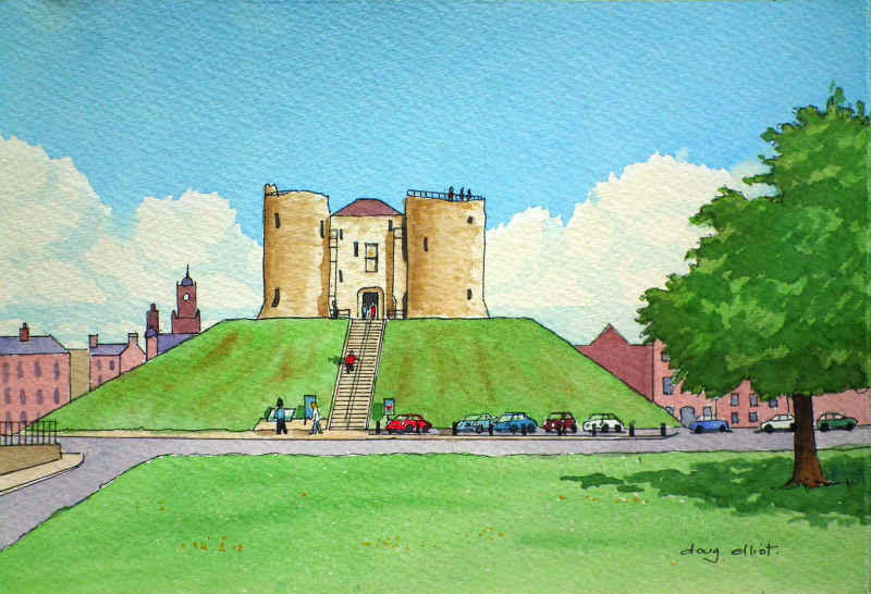 Clifford's Tower painting: Doug Elliot: how to transform your art into a bound book