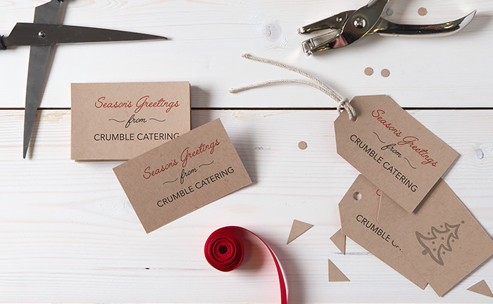 christmas diy business card printed swing tags